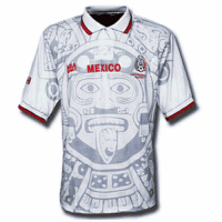 1998 Mexico Away Classic Retro White Soccer Jersey Shirt