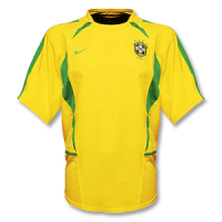 2002-2003 Brazil Home Yellow Classic Retro Jersey Shirt