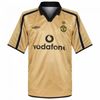 01-02 Manchester United Classic Retro Away Gold Centenary Jersey Shirt