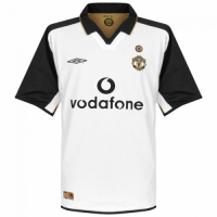 01-02 Manchester United Away Classic Retro White Centenary Jersey Shirt