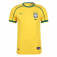 1998 Brazil Home Yellow Classic Retro Jersey Shirt