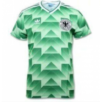 1988-1990 West Germany Away Classic Retro Green Soccer Jersey Shirt
