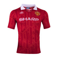 92-94 Manchester United Home Classic Retro Soccer Jersey Shirt