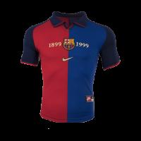 Barcelona Soccer Jersey Home 100-Yeas Anniversary Retro Replica 1999-2000