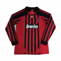AC Milan Soccer Jersey Home Long Sleeve Retro Replica 2007/08