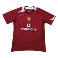 2006 Manchester United Home Red Retro Jerseys Shirt
