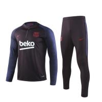 19/20 Barcelona Red Zipper Sweat Shirt Kit(Top+Trouser)