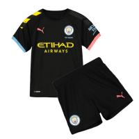 19/20 Manchester City Away Black Children's Jerseys Kit(Shirt+Short)