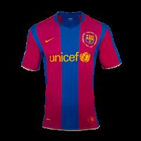 Barcelona Soccer Jersey Home 50-Years Anniversary Retro Replica 2007/08