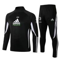 19/20 Juventus X Palace Black High Neck Collar Sweat Shirt Kit(Top+Trouser)
