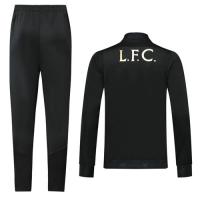 19/20 Liverpool Black High Neck Collar Training Kit(Jacket+Trouser)