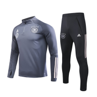 2020 Germany Dark  Gray Zipper Sweat Shirt Kit(Top+Trouser)
