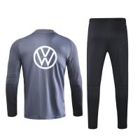 2020 Germany Dark  Gray Zipper Sweat Shirt Kit(Top+Trouser)
