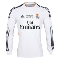 Real Madrid Retro Soccer Jersey Home Long Sleeve Replica 2013/14