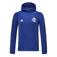 19/20 CR Flamengo Blue Windbreaker Hoodie Jacket