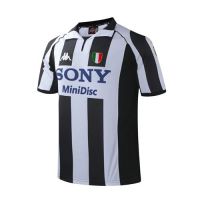 97-98 Juventus Home Black&White Soccer Retro Jerseys Shirt