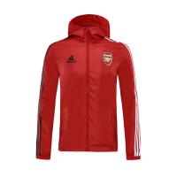 20/21 Arsenal Red Windbreaker Hoodie Jacket
