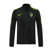 20/21 Atletico Madrid Black Player Version High Neck Collar Training Jacket