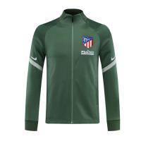 20/21 Atletico Madrid Green Player Version High Neck Collar Training Jacket