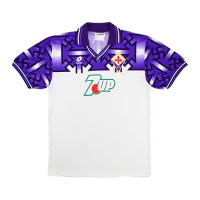 92/93 Fiorentina Away Purple&White Retro Soccer Jerseys Shirt
