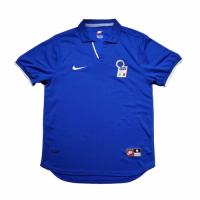 1998 World Cup Italy Home Blue Retro Soccer Jerseys Shirt