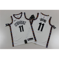 Men's Brooklyn Nets Kyrie Irving No.11 White 19-20 Swingman Jersey - City Edition