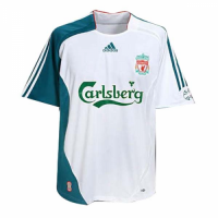 06/07 Liverpool Third Away White Retro Soccer Jerseys Shirt