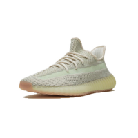 "Adidas Yeezy 350 V2 ""Citrin - Reflective"" Cleat-Gray&Light Green"