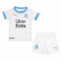 20/21 Marseilles Home White Children's Jerseys Kit(Shirt+Short)
