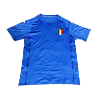 2002 World Cup Italy Home Blue Retro Soccer Jerseys Shirt