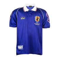 1998 World Cup Japan Home Blue Retro Soccer Jerseys Shirt