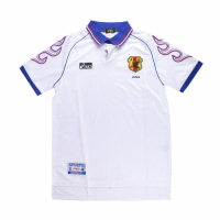 1998 World Cup Japan Away White Retro Soccer Jerseys Shirt