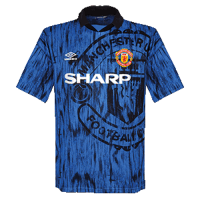 92-93 Manchester United Away Blue Retro Jerseys Shirt