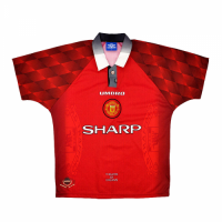 96/97 Manchester United Home Red Retro Jerseys Shirt