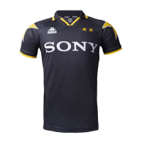96/97 Juventus Away Black&Yellow Soccer Retro Jerseys Shirt
