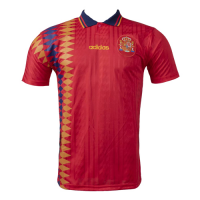1994 Spain Home Retro Soccer Jerseys Shirt