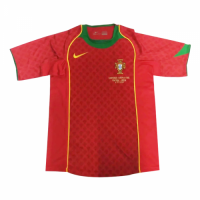 2004 Portugal Home Red Retro Jerseys Shirt