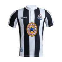 95/97 Newcastle United Home Black&White Retro Soccer Jerseys Shirt