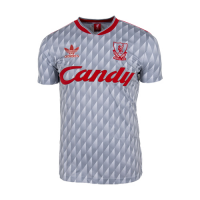 89/91 Liverpool Away Gray Retro Jerseys Shirt