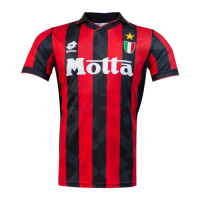 92/94 AC Milan Home Red Retro Soccer Jerseys Shirt