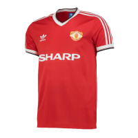 82/84 Manchester United Home Red Retro Jerseys Shirt