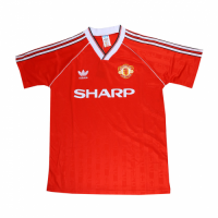 88/90 Manchester United Home Red Retro Jerseys Shirt