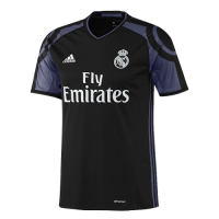 16/17 Real Madrid Third Away Black&Purple Retro Jerseys Shirt(Player Version)