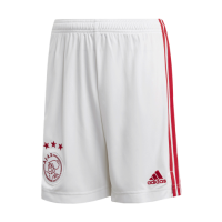 20/21 Ajax Home White Soccer Jerseys Short
