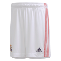 20/21 Real Madrid Home White Soccer Jersey Short