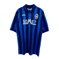 96/97 Atalanta BC Home Blue&Black Retro Soccer Jerseys Shirt