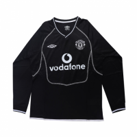 00-01 Manchester United Goalkeeper Black Long Sleeve Retro Jerseys Shirt