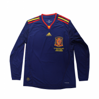 Spain Retro Soccer Jersey Away Long Sleeve Replica World Cup 2010