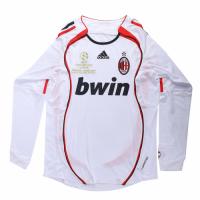 06-07 AC Milan Away White Long Sleeve Retro Jerseys Shirt