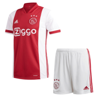20/21 Ajax Home Red&White Soccer Jerseys Kit(Shirt+Short)